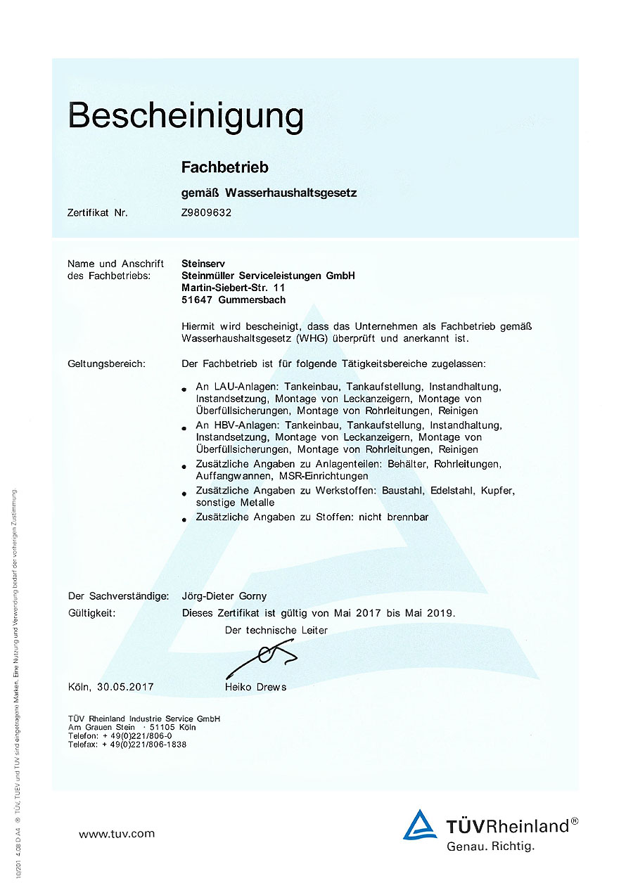 Steinserv certification din iso 9001 1betcityfo Image collections