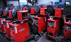Equipment store, MAG and TIG welding machines