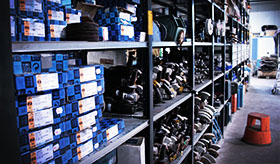 Equipment store, abrasive- and cutting tools
