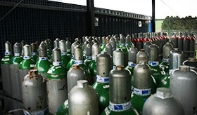 Equipment store, welding- and protective gases